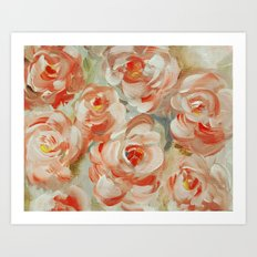 Shabby Flowers Art Print