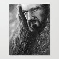 thorin Canvas Prints featuring Thorin by AnastasiumArt