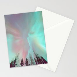 Deep Pastel Aurora Borealis Stationery Cards