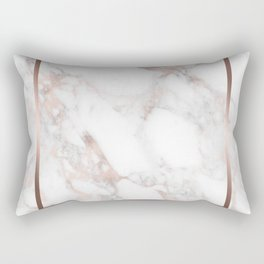 Luxury Rose-gold Faux Marble Rectangular Pillow
