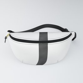 Letter J Initial Monogram Black and White Fanny Pack