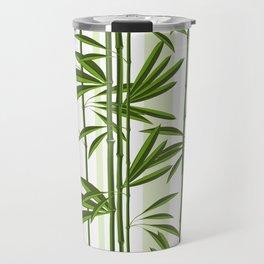Green bamboo tree shoots pattern Travel Mug