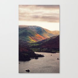 Golden hour in the lake district Canvas Print