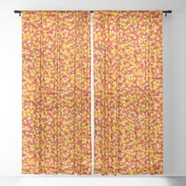 Candy Corn Halloween Candy Photo Pattern Sheer Curtain
