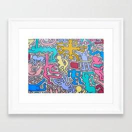 KEITH HARING Framed Art Print