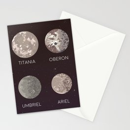 titania oberon umbriel ariel | moons of uranus Stationery Cards