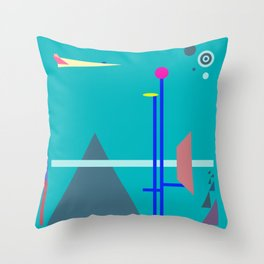 Two Sequences, Pyramid, Tower and Target Throw Pillow