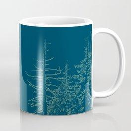 Wintry scene in moody blue Coffee Mug