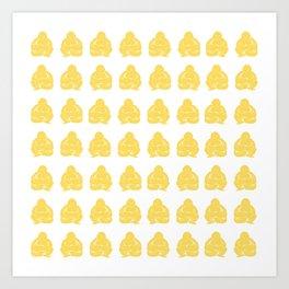 Pale Yellow Asian Moods Buddha Boys Art Print