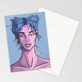 Glitch girl Stationery Cards