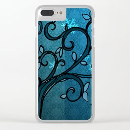 LEAVE - Winter Cyan Clear iPhone Case