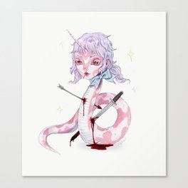The Mythical Snake Girl Canvas Print
