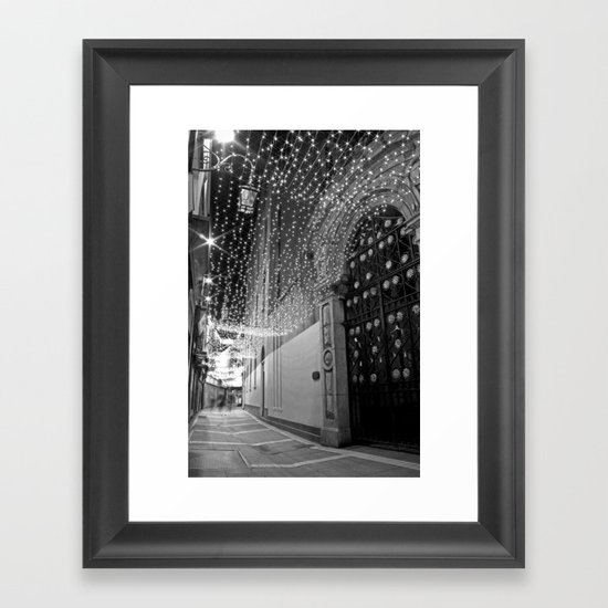 Christmas lights at Johnson's Court, Dublin Framed Art Print