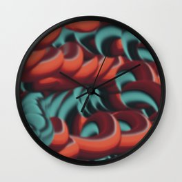 Graphic doodle Wall Clock
