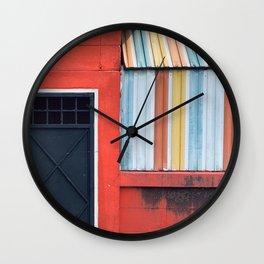 Rainbow Color Closed Shop Window Wall Clock