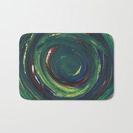 Green Spiral Bath Mat