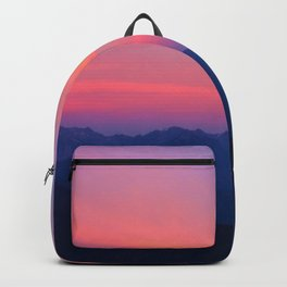 Olympic Mountain Sunset Backpack