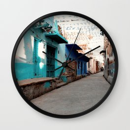 Streets of India. Wall Clock