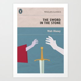 The Sword in the Stone - Movie Poster - Penguin Book version Art Print