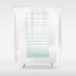 Linear Gradation - Mint Shower Curtain