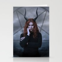 satan Stationery Cards featuring satan by tadzioautumn