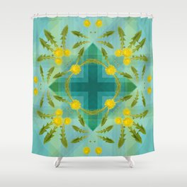Dandelions in the sky Shower Curtain