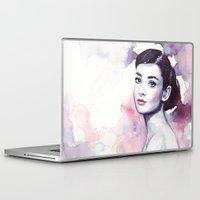 hepburn Laptop & iPad Skins featuring Audrey Hepburn by Olechka