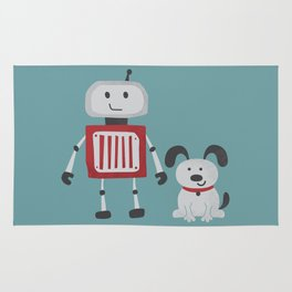 Best Friends - Robot and Dog Rug