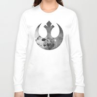 falcon Long Sleeve T-shirts featuring Millennium Falcon by foreverwars