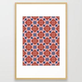 Folk Pattern Framed Art Print