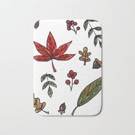 Fall Leaves Seasonal Pattern Bath Mat