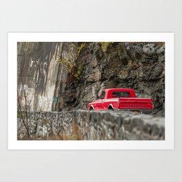 Red Pickup 67' Art Print