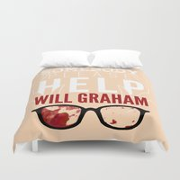 will graham Duvet Covers featuring Somebody please help Will Graham by NERVES.