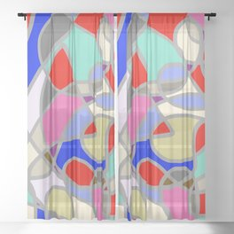 Stain Glass Abstract Meditation Painting 1 Sheer Curtain
