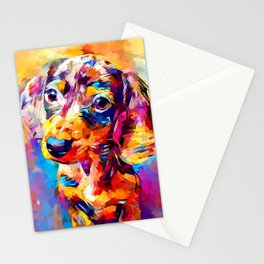 Mini Dachshund Stationery Cards