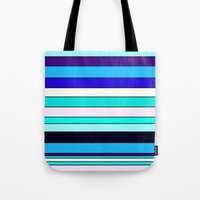 stripe Tote Bags featuring Stripe by Mishu & Casco