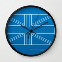 blueprint Wall Clocks featuring Blueprint Jack by Tom Schoffelen