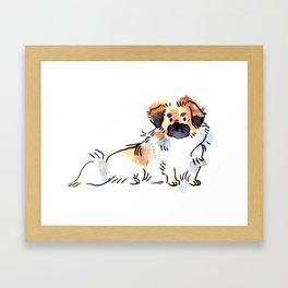 Princeton - Dog Watercolour Framed Art Print