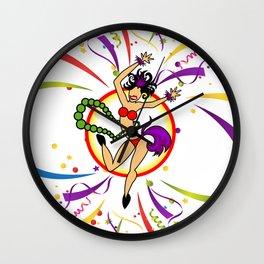 Nawlins Party Wall Clock