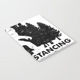 Stay at Home Order Social Distancing Champion Big Foot Notebook