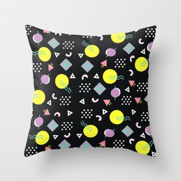 90's geometry Throw Pillow