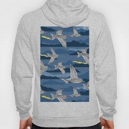 sea birds at night Hoody