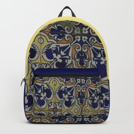 Spain 46 - Woman in Madrid with mosaic on the wall Backpack