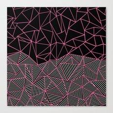 Ab Half an Half Black and Pink Canvas Print