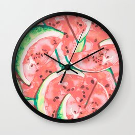 Watermelons Forever   Pastels Wall Clock