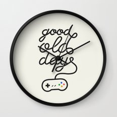 Good Old Days - Videogame Wall Clock