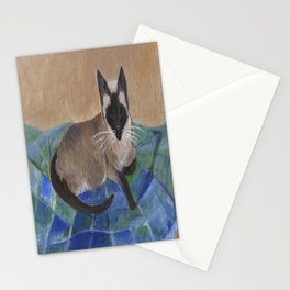 Siamese Napping Stationery Cards