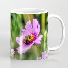 Bumble Bee on Pink Cosmos Coffee Mug