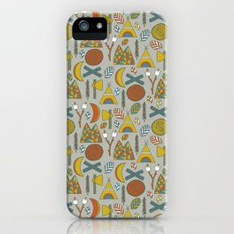 Out in the Woods Camping iPhone Case