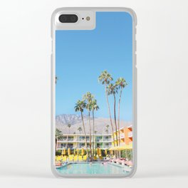 PS, Saguaro Hotel 1 Clear iPhone Case
